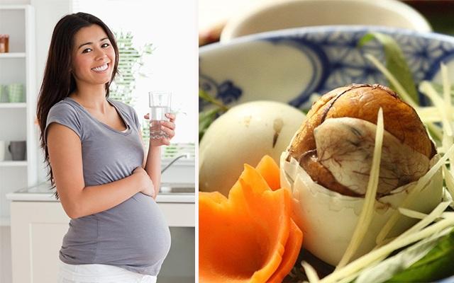bà bầu có nên ăn trứng vịt lộn